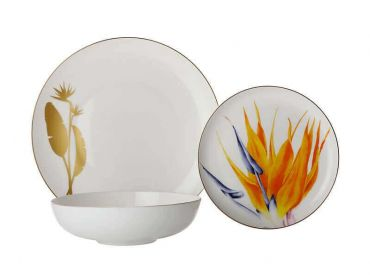 Royal Botanic Gardens Victoria Botanica Floris Place Setting 3pc Strelitzia Orange