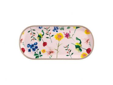 Teas & C's Contessa Oblong Platter 33x15cm Rose