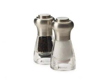 Dynasty Stainless Steel Salt & Pepper Mill Set 11cm